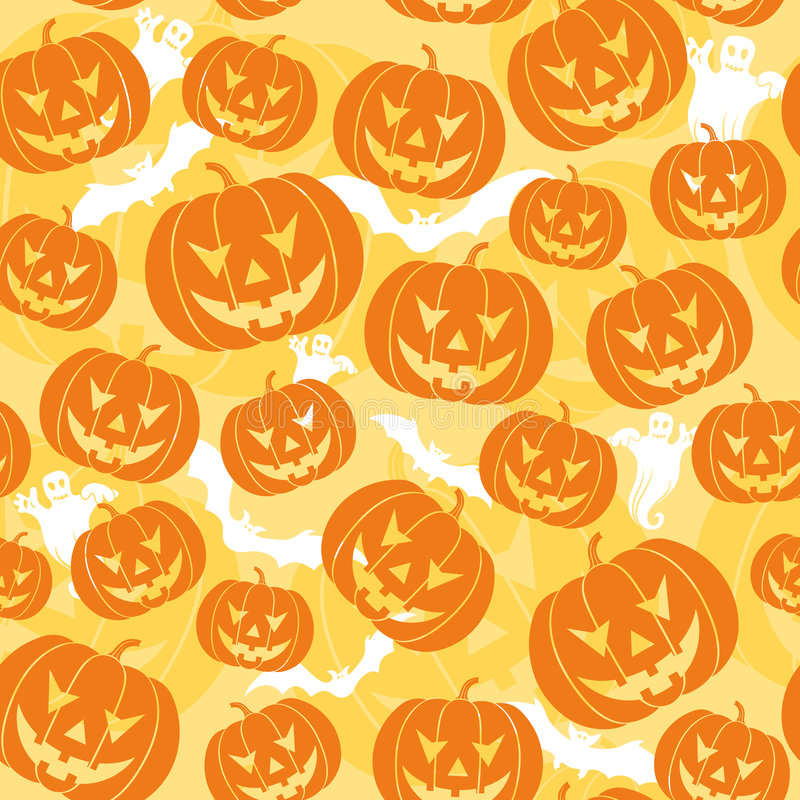 Free Halloween Seamless Background Royalty Free Stock Photos - 3187258
