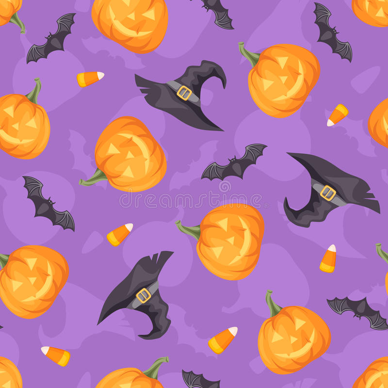 Halloween seamless background. Vector illustration. stock illustration