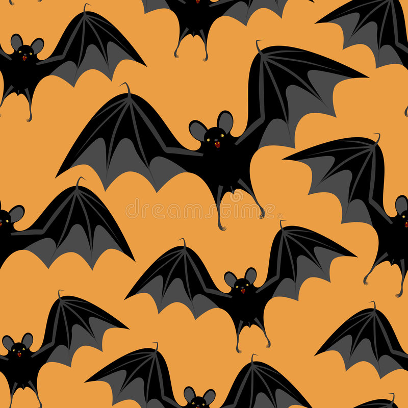Download Halloween Seamless  With Bats Stock Vector - Image: 5877699