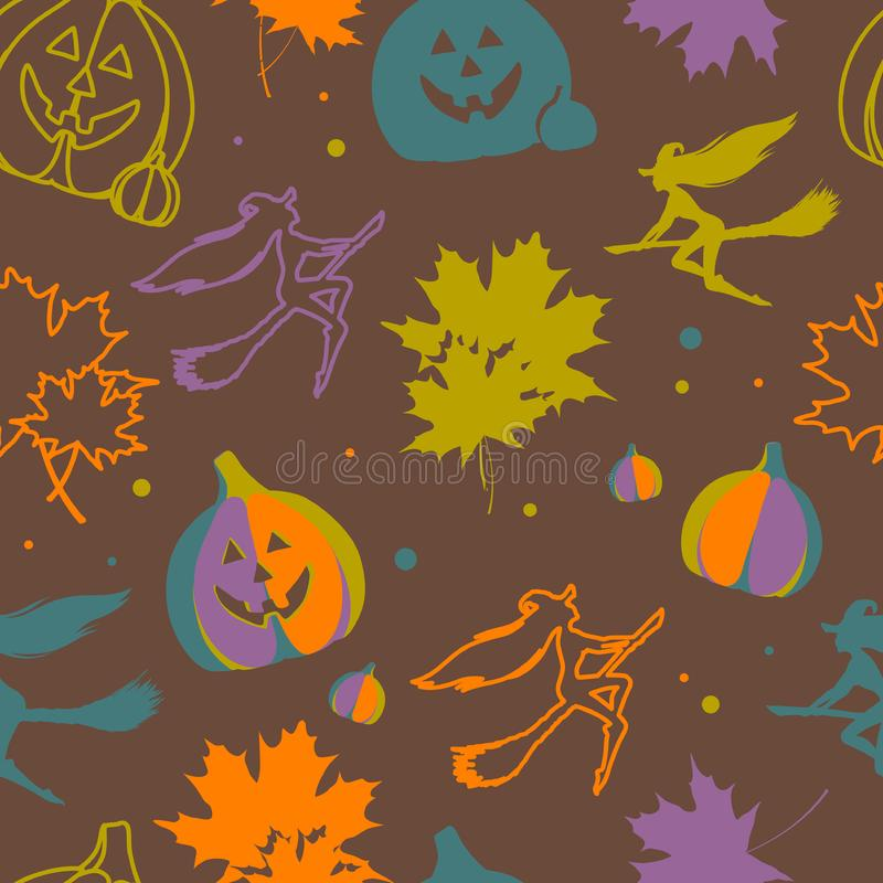 Download Halloween seamless pattern stock vector. Illustration of design - 21649449