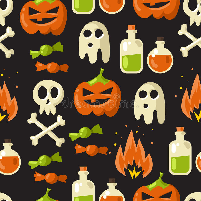Halloween seamless pattern background vector illustration