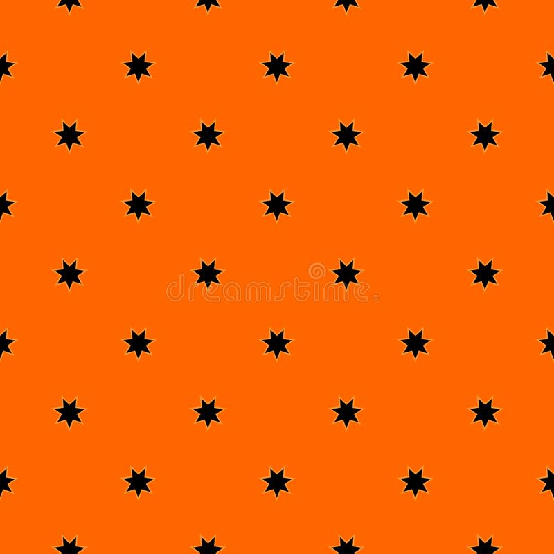 Halloween Seamless Pattern Of Decorative Seven Pointed Stars. royalty free illustration