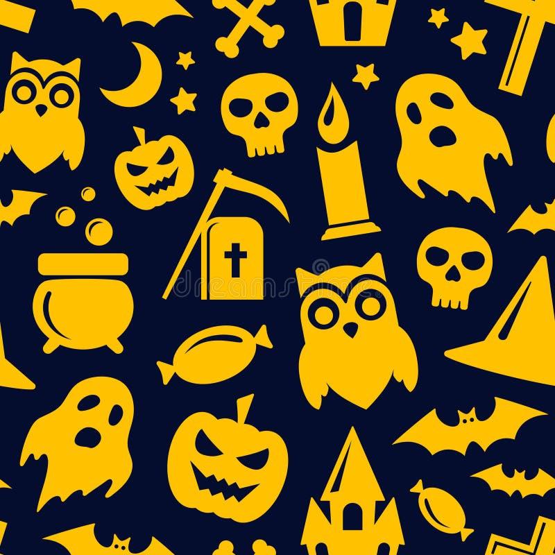 Halloween seamless pattern. Vector background stock illustration