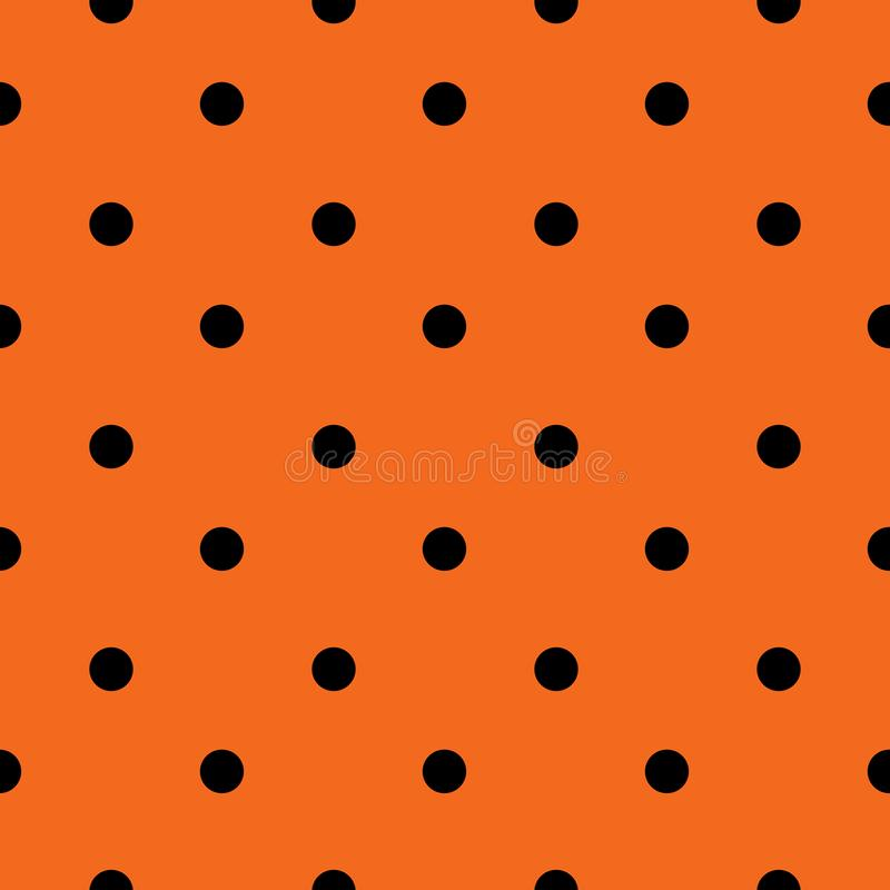 Halloween Seamless Polka Dot Pattern In Orange And Black Color. Halloween Seamless Polka Dot Pattern In Orange And Black Colour. Digital scrap booking, wallpaper royalty free illustration