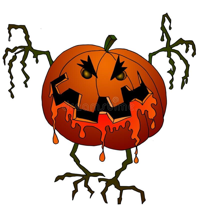 Halloween-Serie - Kürbis stock abbildung