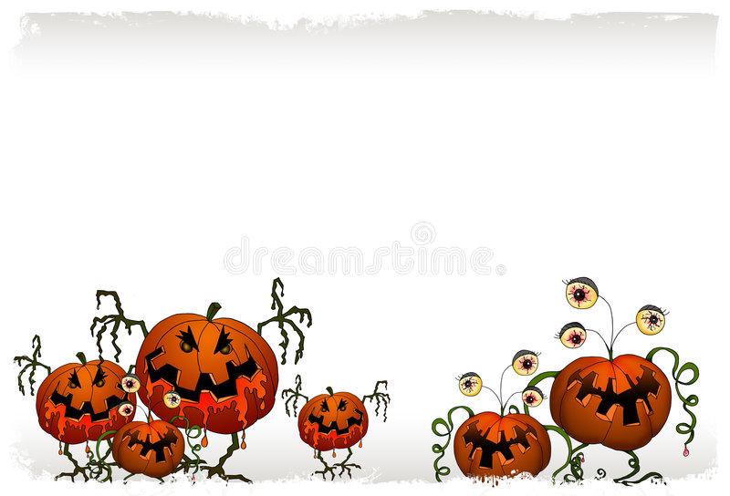 Halloween-Serie - Kürbismonster stock abbildung