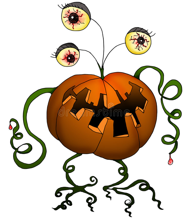 Download Halloween Series - Pumpkin Monster Stock Illustration - Illustration: 6499364