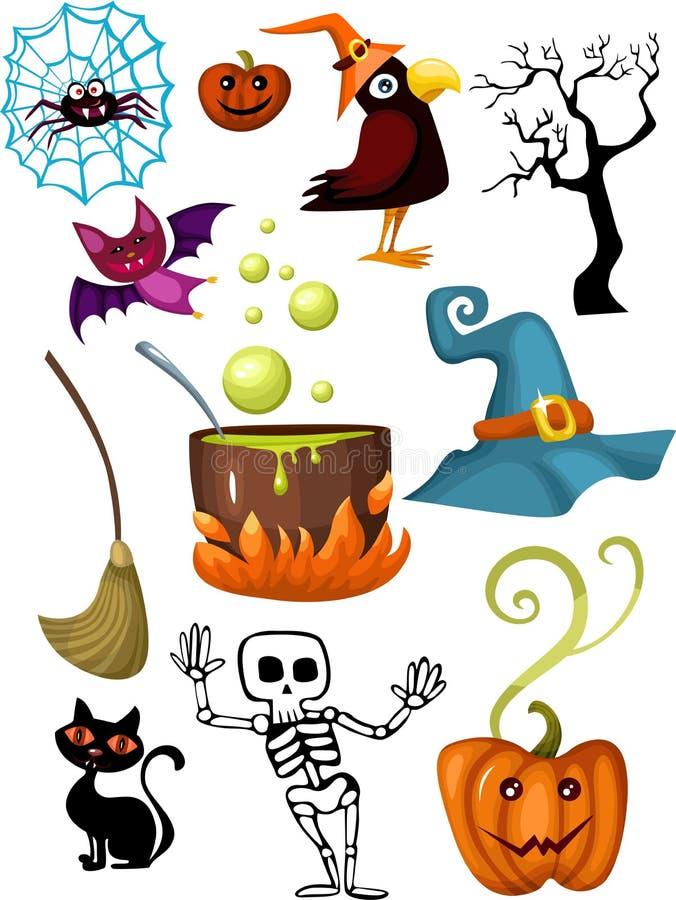 halloween set ilustracja wektor
