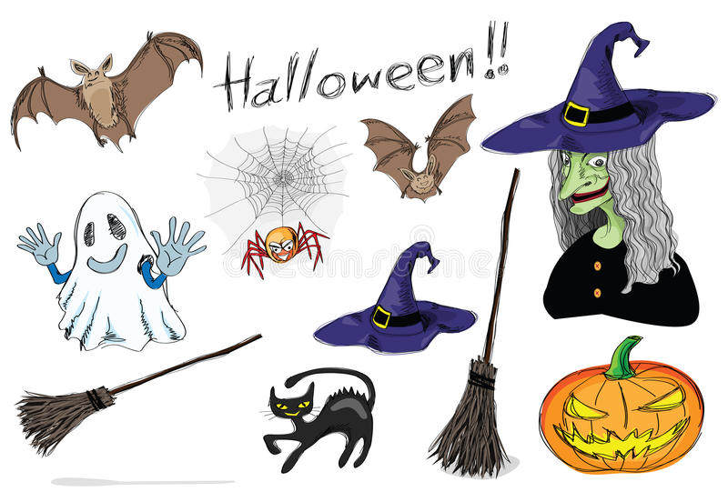 Halloween set vector illustration