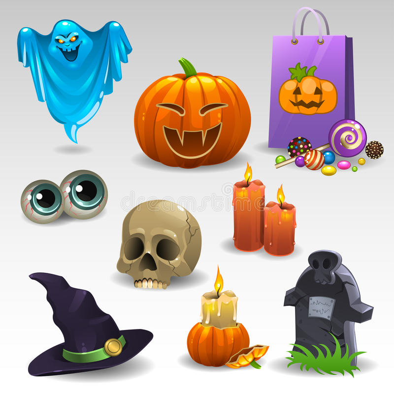 Free Halloween Set 2 Stock Photography - 58585942
