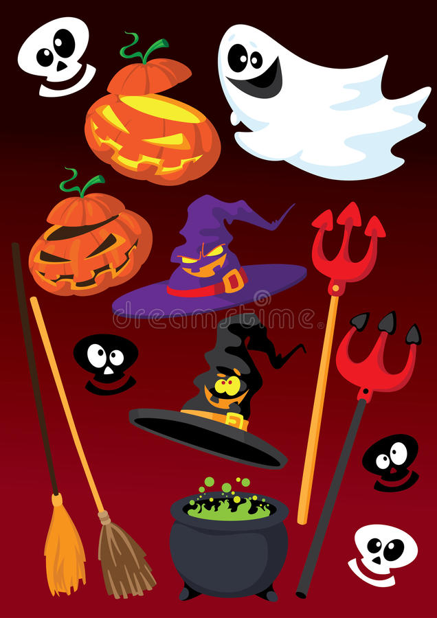 Download Halloween set stock vector. Illustration of shock, cartoon - 21105861