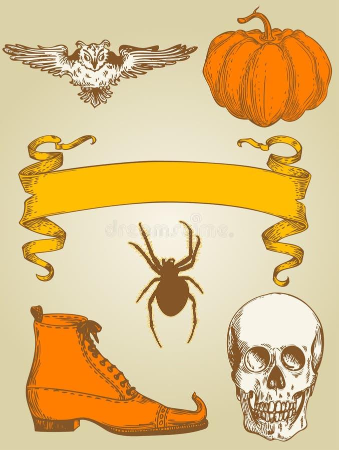 halloween set royalty ilustracja
