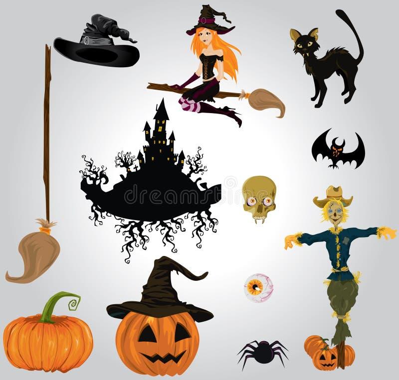Download Halloween set stock vector. Image of celebration, illustration - 22140146