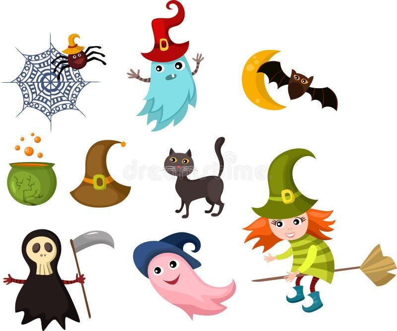 Halloween set vector illustration
