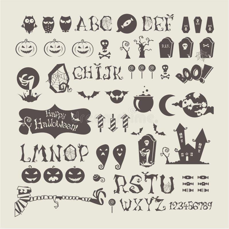 Free Halloween Set Stock Photo - 33469290