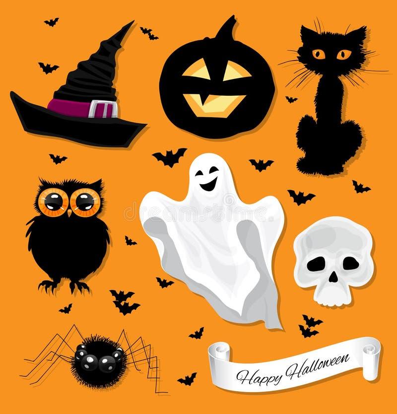 Free Halloween Set Royalty Free Stock Photo - 45302865