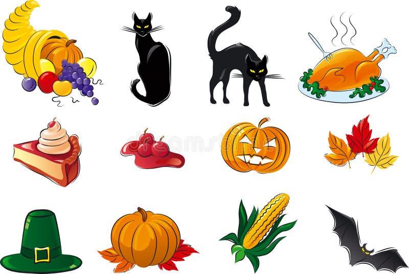 Download Halloween set stock vector. Image of autumn, icon, black - 33631609