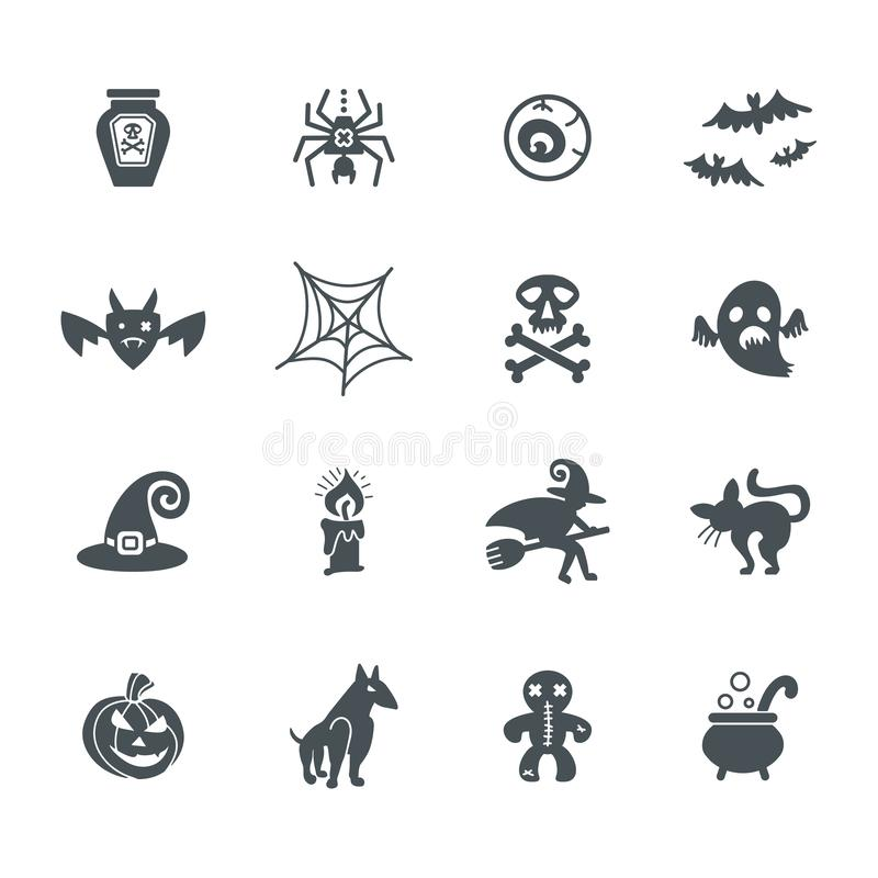Halloween. Set of icons on a theme of a Happy Halloween. stock illustration