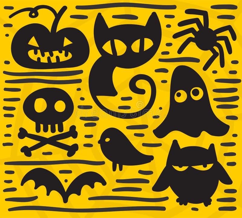 Download Halloween set stock vector. Illustration of doodle, animal - 36206660