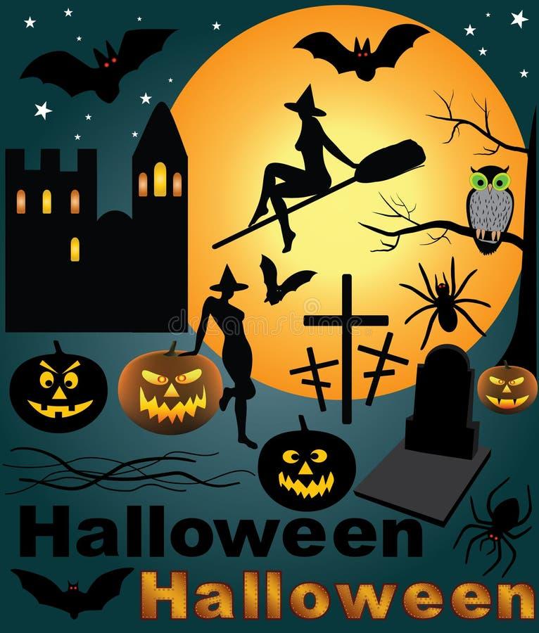 halloween setu wektor ilustracja wektor