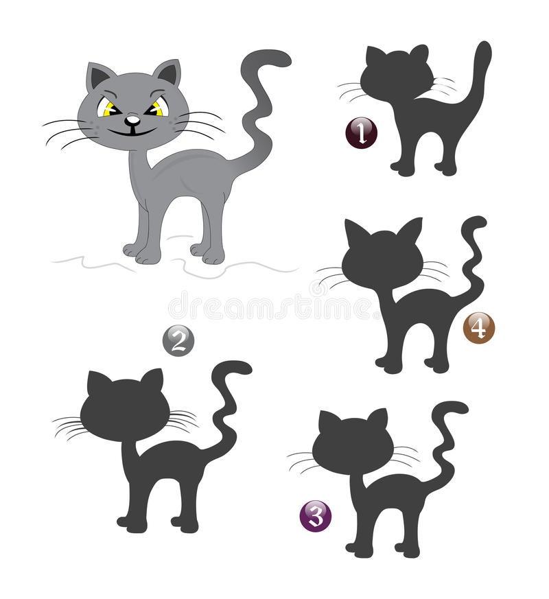 Free Halloween Shape Game: The Cat Stock Images - 21370534