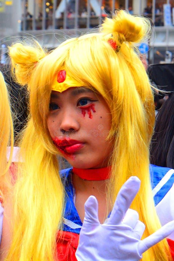 Halloween in Shibuya, Tokyo, Japan stockfotos