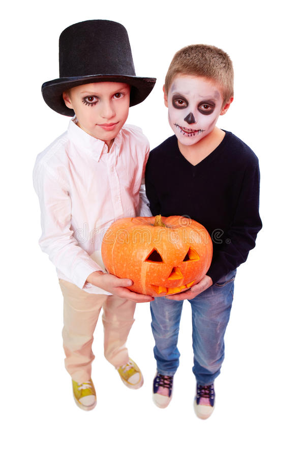 Halloween siblings royalty free stock image