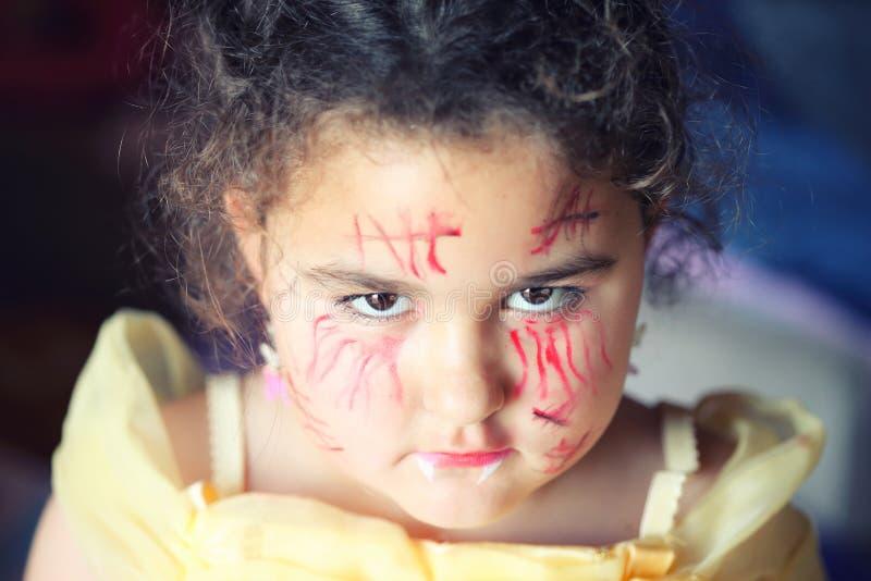 Halloween siete años de muchacha fotografía de archivo libre de regalías