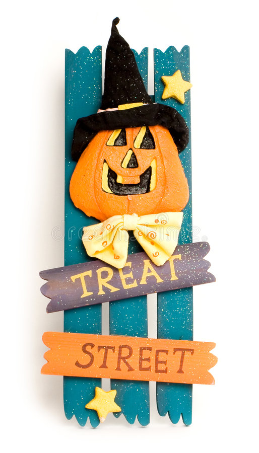 Halloween sign stock image