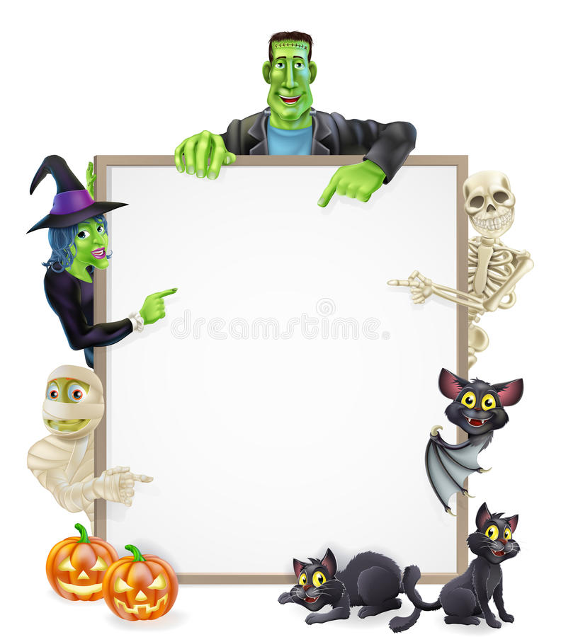 Free Halloween Sign Background Royalty Free Stock Photography - 34442357