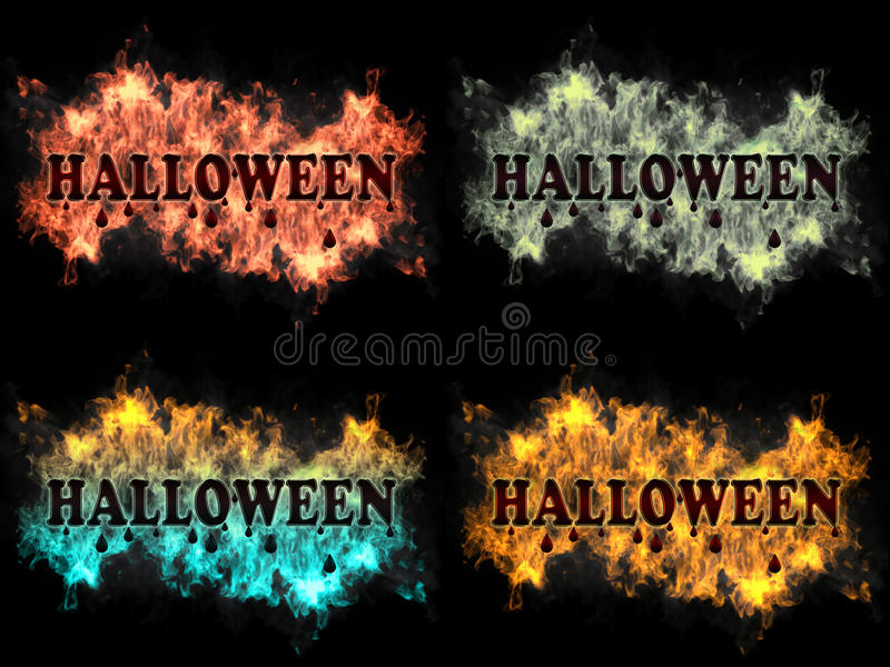 Download Halloween sign on fire stock photo. Image of messy, street - 27026958