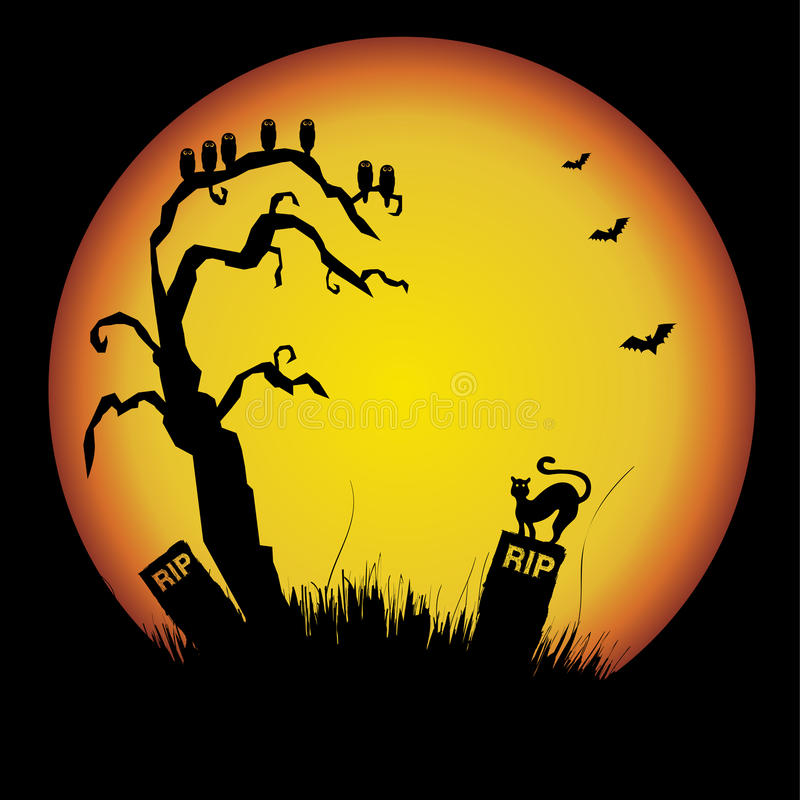 Download Halloween silhouette stock vector. Illustration of nature - 11815656