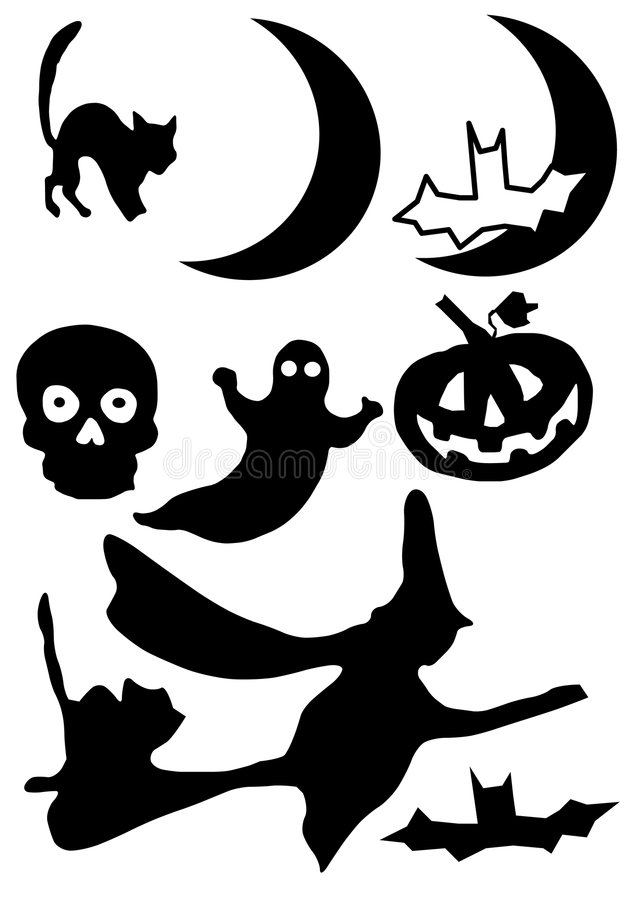 Free Halloween Silhouette Royalty Free Stock Images - 5492089