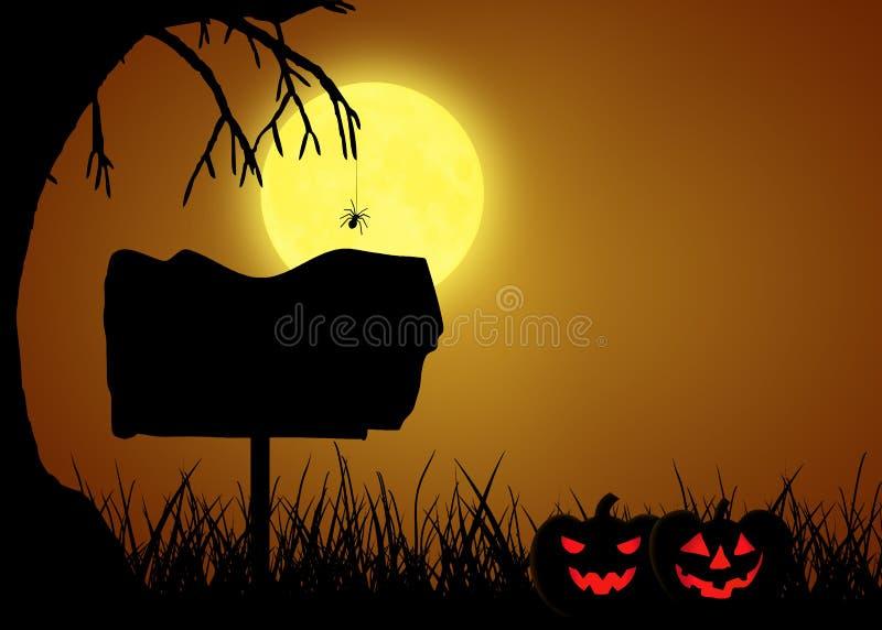 Halloween Silhouette Sign vector illustration