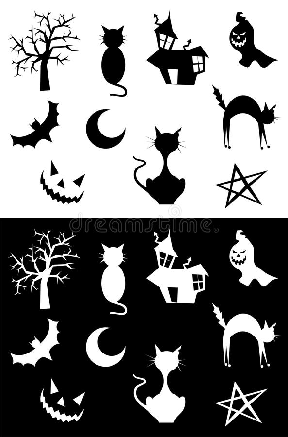 Download Halloween silhouettes stock vector. Image of halloween - 10962477