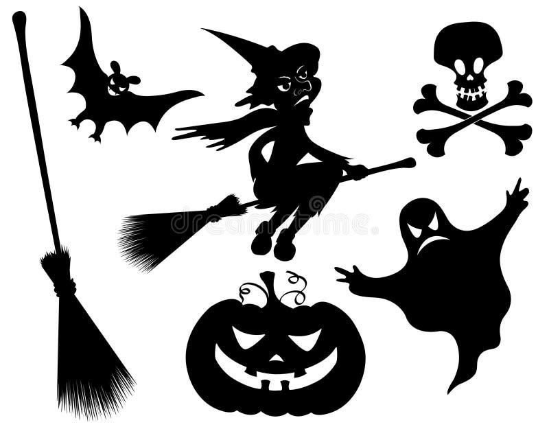 Halloween silhouettes. stock image