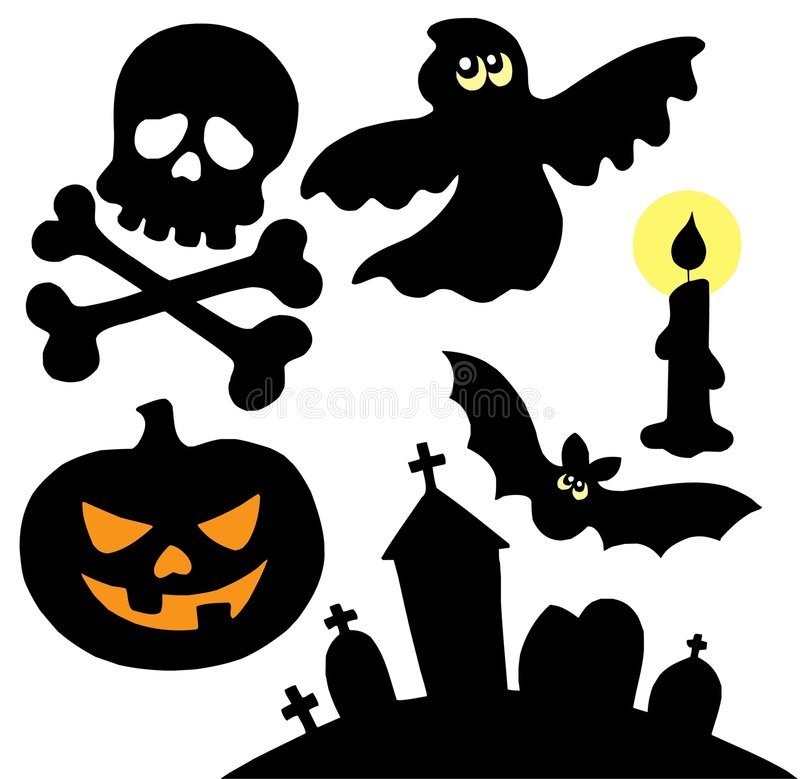 Free Halloween Silhouettes Collection 2 Stock Photo - 6619650