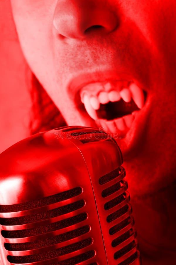 Download Halloween Singer stock photo. Image of grunge, head, growling - 1277414