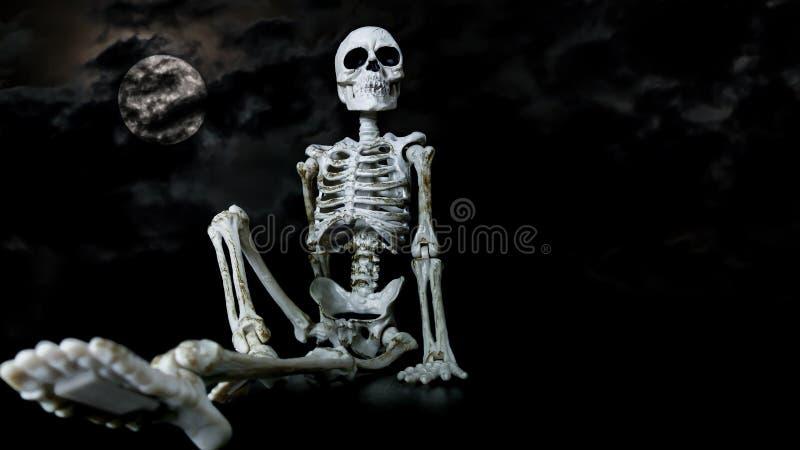 Halloween-Skelet het Koelen royalty-vrije stock afbeeldingen