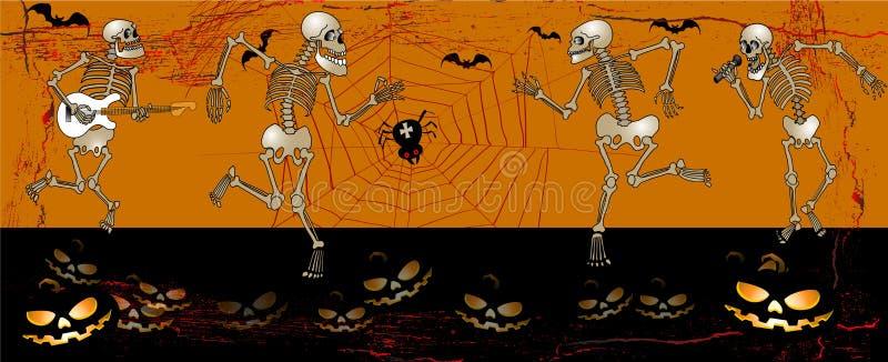 Halloween skeleton2 illustrazione di stock