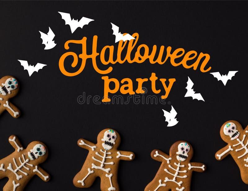 Halloween skeleton cookies stock photos