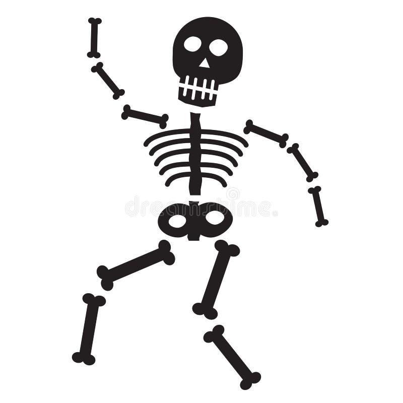 Halloween Skeleton stock illustration