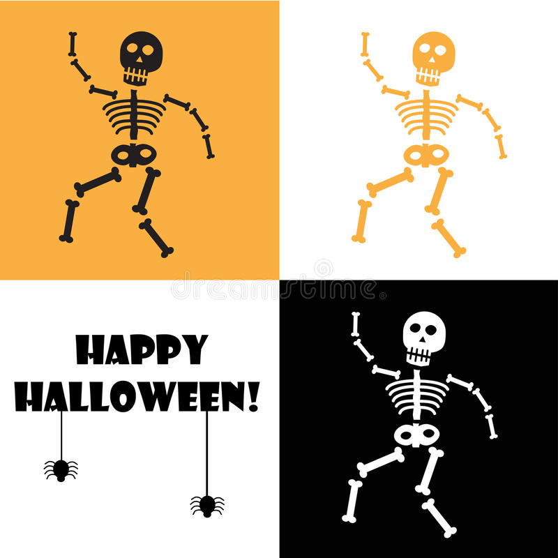 Halloween Skeleton royalty free illustration