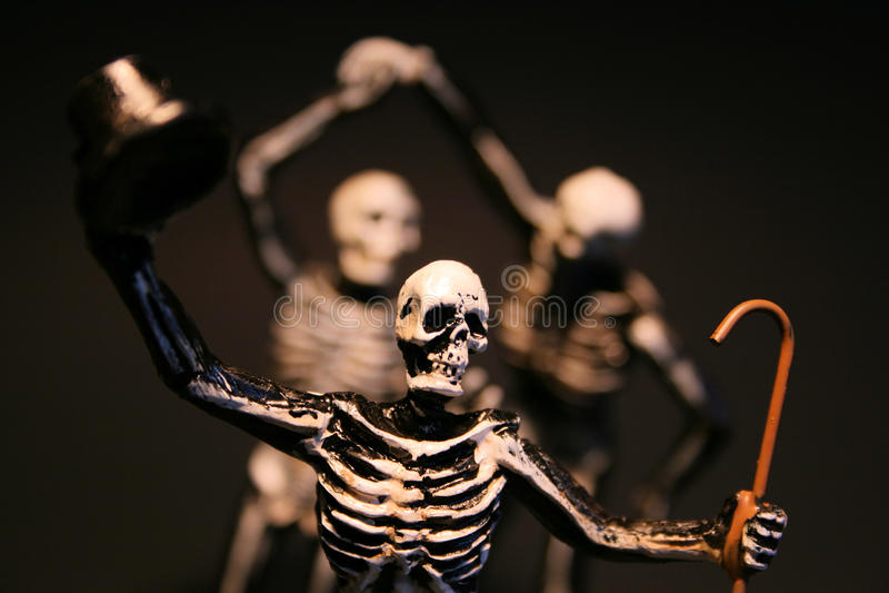 halloween skelett arkivfoton