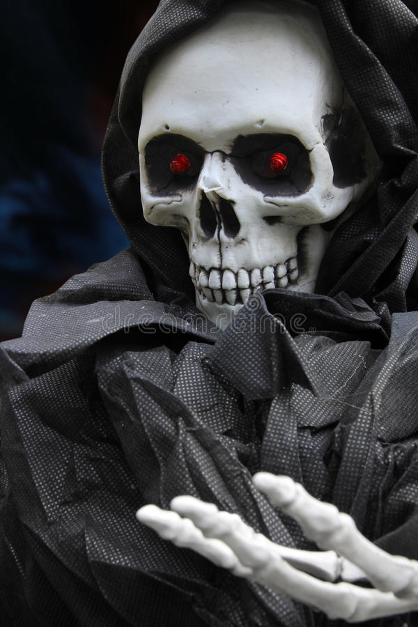 Halloween-Skelett stockfoto