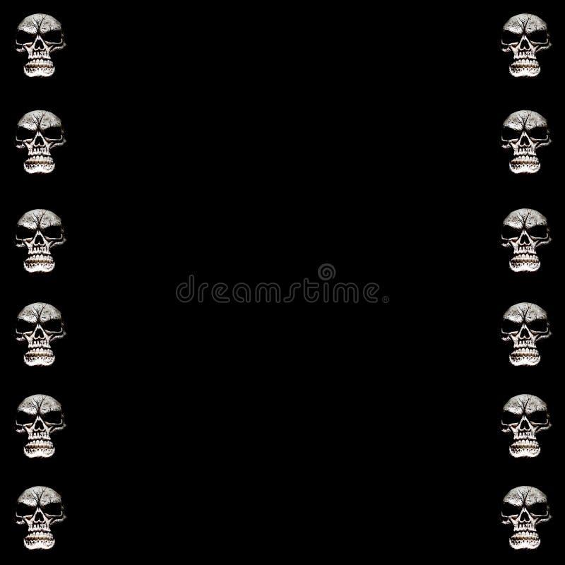 Halloween Skull Frame royalty free stock photo