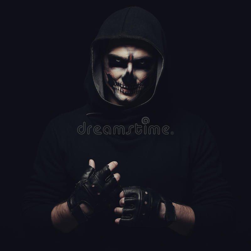 Halloween skull royalty free stock photography