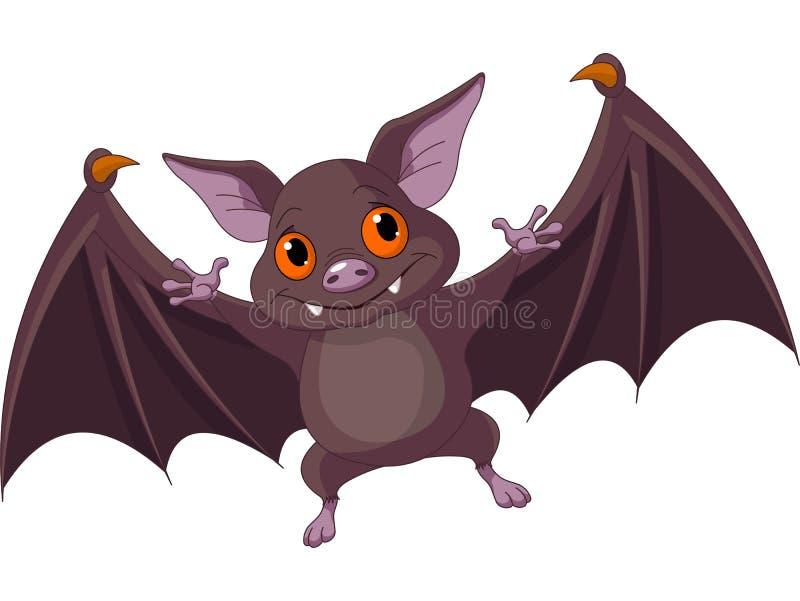 Halloween slagträflyg royaltyfri illustrationer