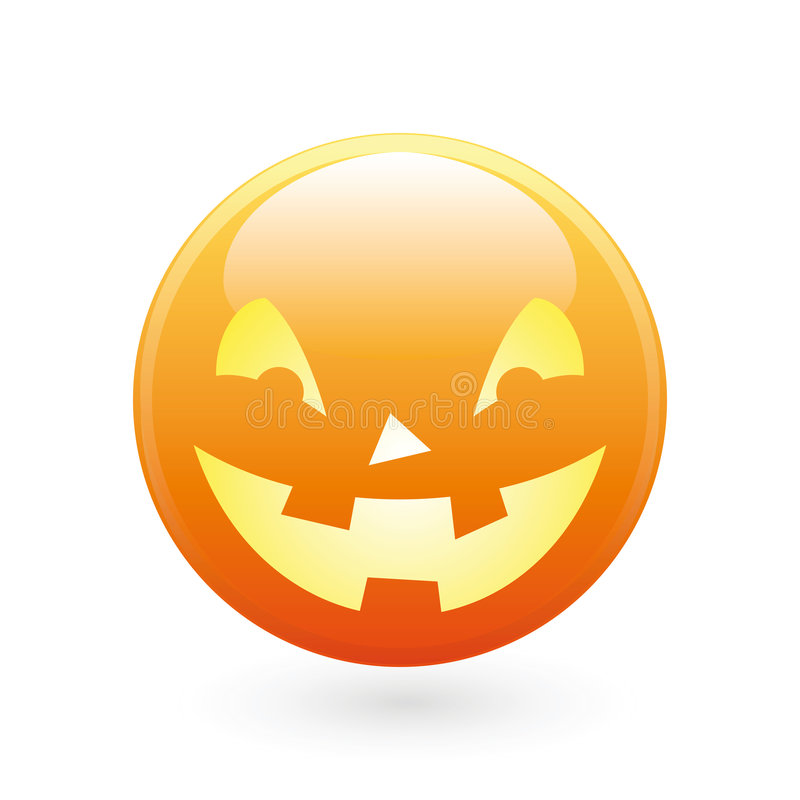 Halloween smile icon royalty free stock image