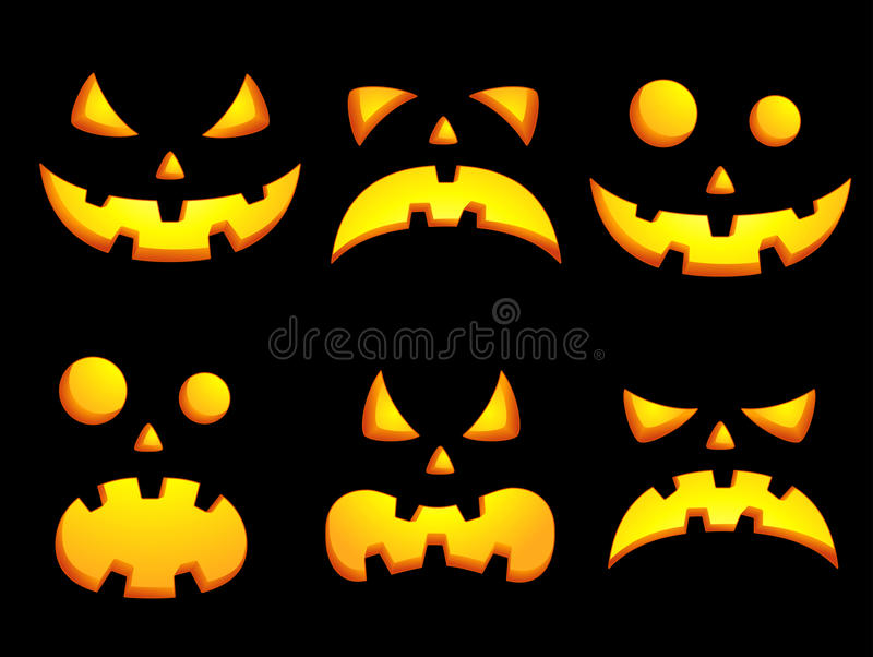 Download Halloween smiley faces stock vector. Image of laugh, fear - 26428299